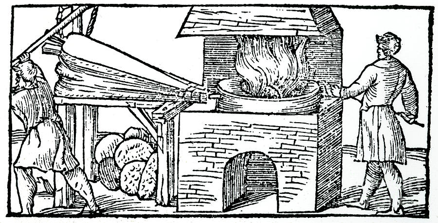 Using Bellows To Increase The Draught Drawing by Print Collector
