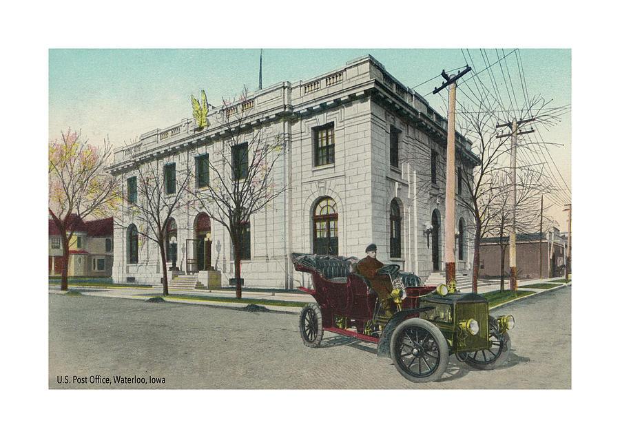 Post Office Photograph - USPS Waterloo Iowa by Greg Joens