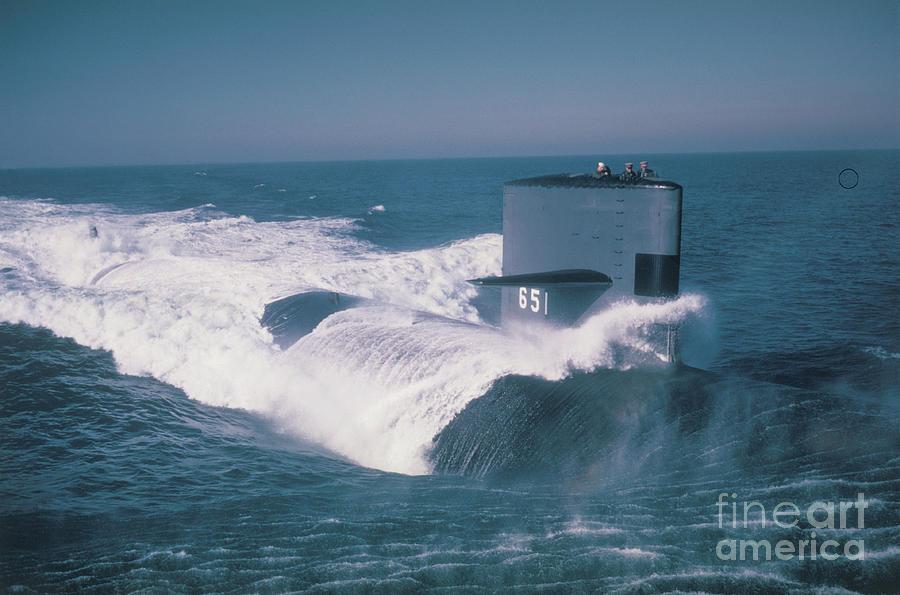 Uss Queenfish Nuclear Submarine Photograph by Bettmann