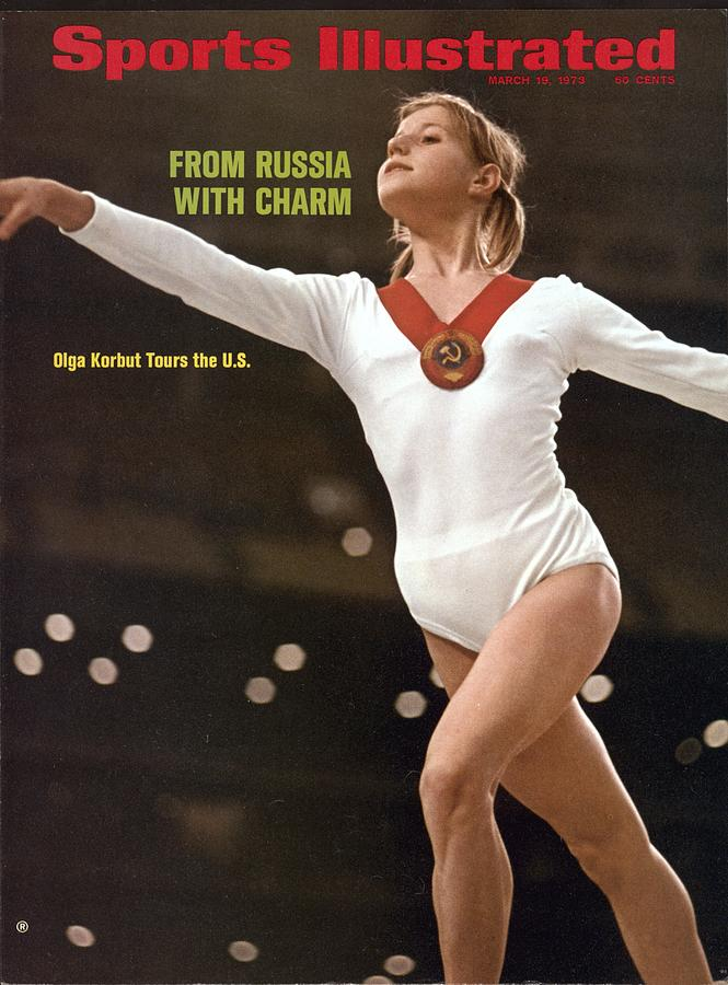 Ussr Olga Korbut, 1973 Soviet Womens Tour Sports Illustrated Cover Photograph by Sports Illustrated