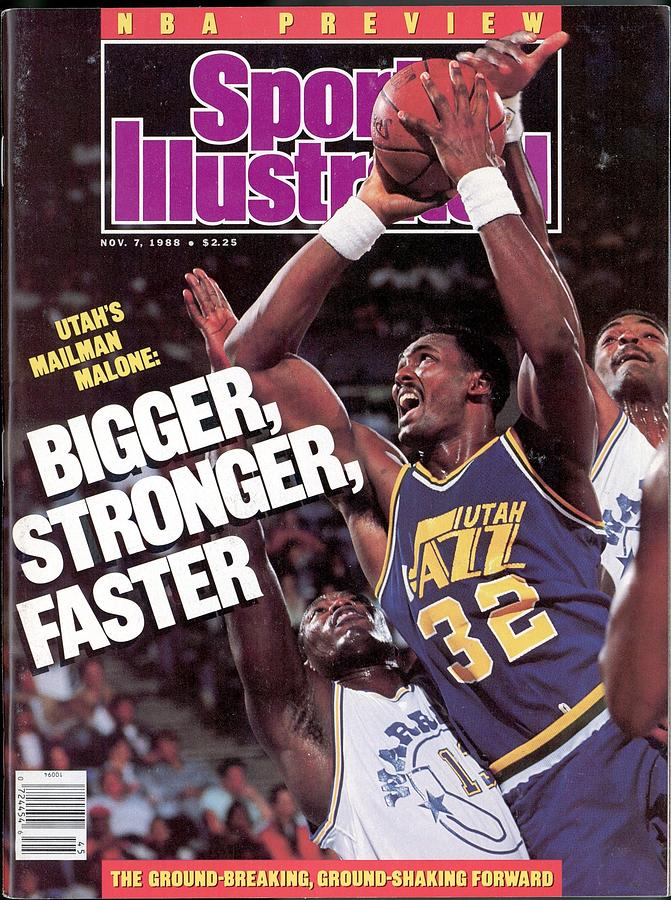 Utah Jazz Karl Malone, 1988 Nba Baseball Preview Sports Illustrated Cover Photograph by Sports Illustrated