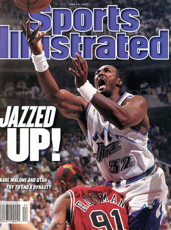 Utah Jazz Karl Malone, 1997 Nba Finals Sports Illustrated Cover Photograph by Sports Illustrated