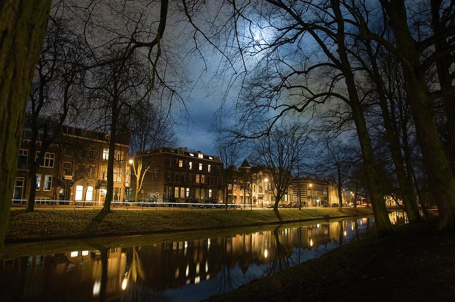 Utrecht By Night Photograph by Jan Zoetekouw Photography