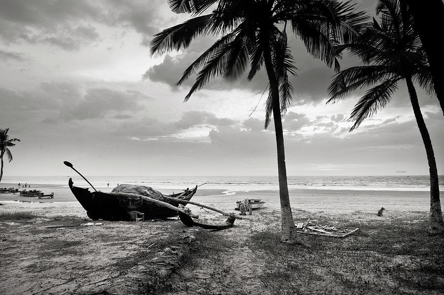 Uttorda Beach , Goa, India  Fishing Boat Photograph by Anoop Negi