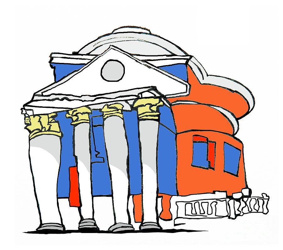 Charlottesville Painting - UVA Rotunda Abstraction by Robert Holewinski