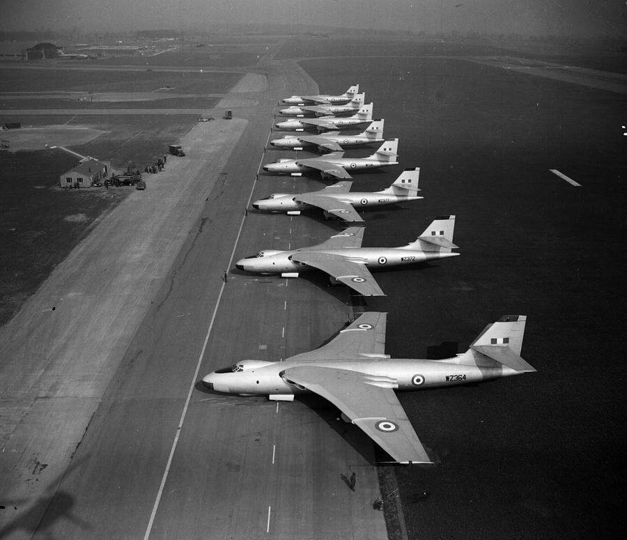 Taking Off Photograph - V Squadron by Douglas Miller