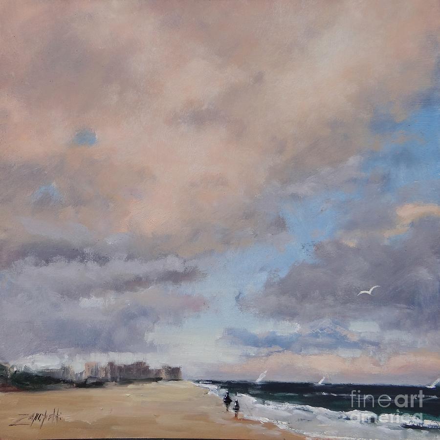 Sunset Painting - Vacation Memories by Laura Lee Zanghetti