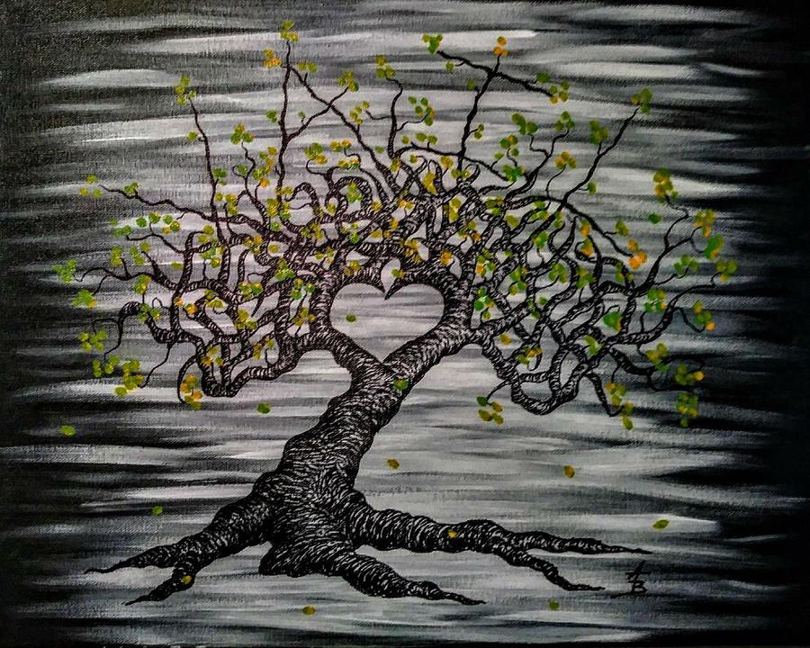 Vail- fall foliage- Love Tree by Aaron Bombalicki
