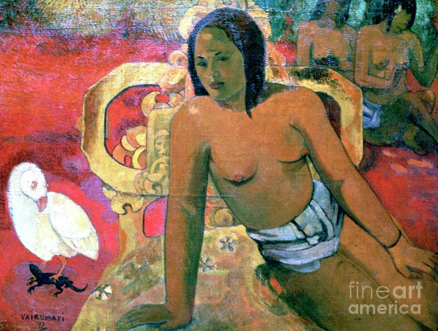 Vairumati, 1896. Artist Paul Gauguin Drawing by Print Collector