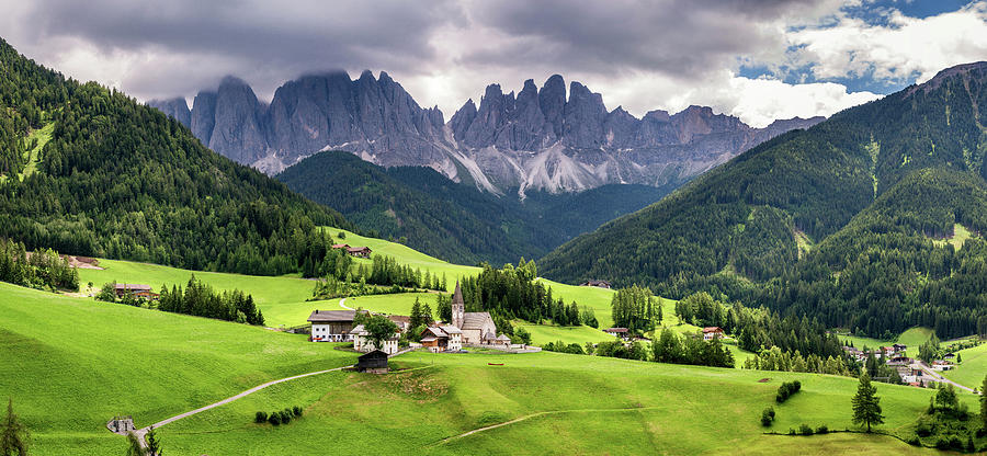 Europe Photograph - Val di Funes panorama by Andrei Dima