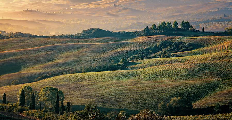Tuscany Photograph - Val Dorcia Tuscany Italy by Joan Carroll