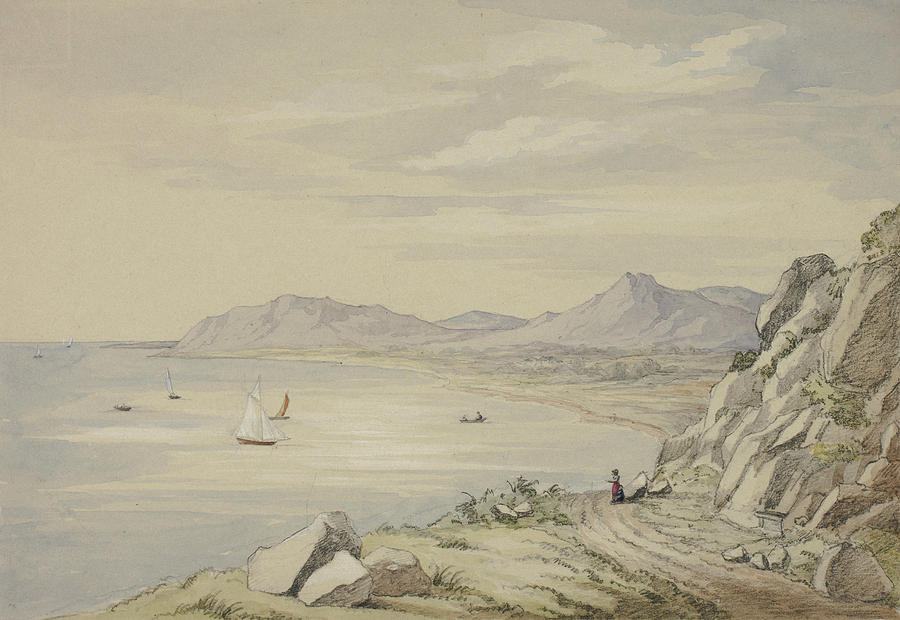 English Painters Drawing - Val Of Shanganagh, Killiney by Elizabeth Murray