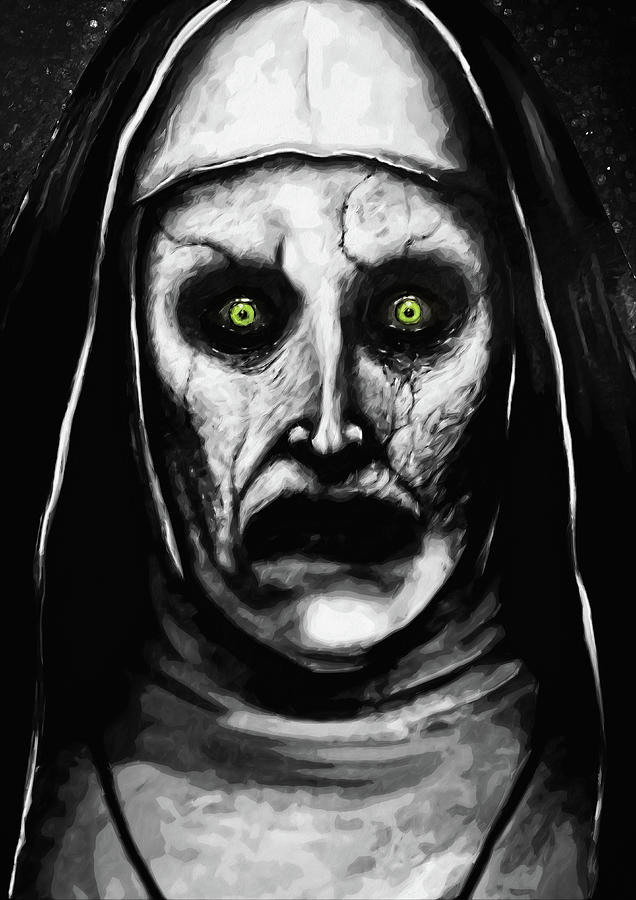 Horror Digital Art - Valak The Demon Nun by Zapista OU