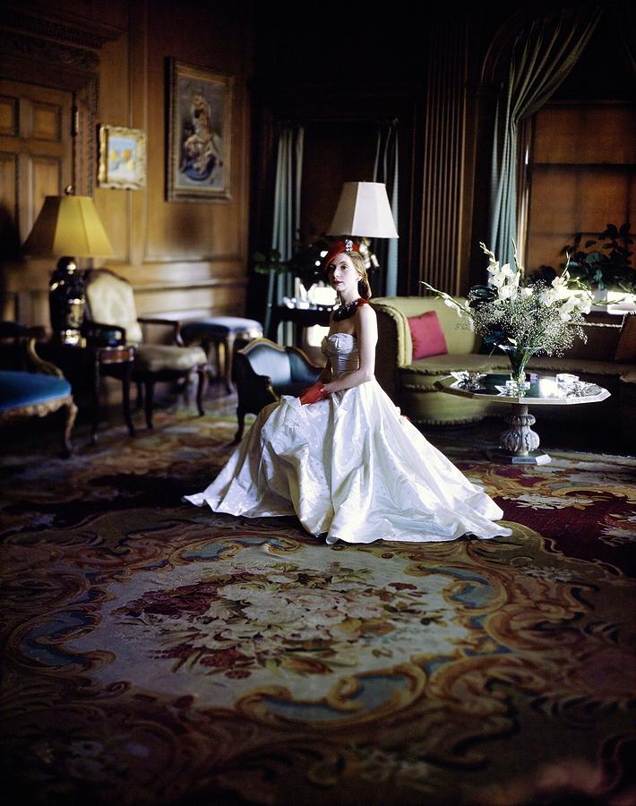 Valentina In Her Drawing Room Photograph by Horst P. Horst
