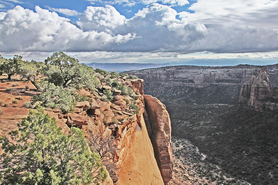 Valley Colorado National Monument Sky Clouds 2892 Photograph by David Frederick