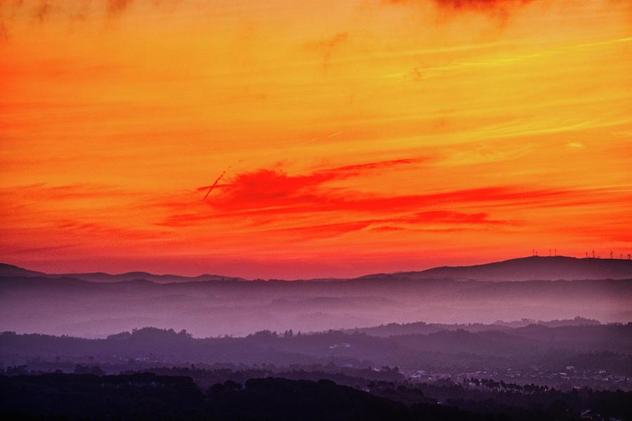 Valley Fog Sunrise - Portugal by Stuart Litoff
