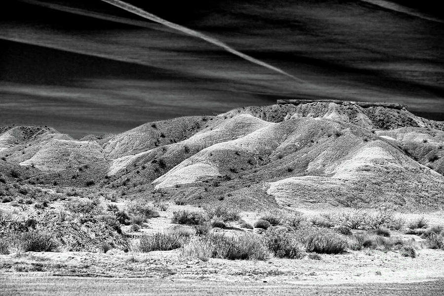 Valley Of Fire Photograph - Valley Of Fire Black White Nevada  by Chuck Kuhn