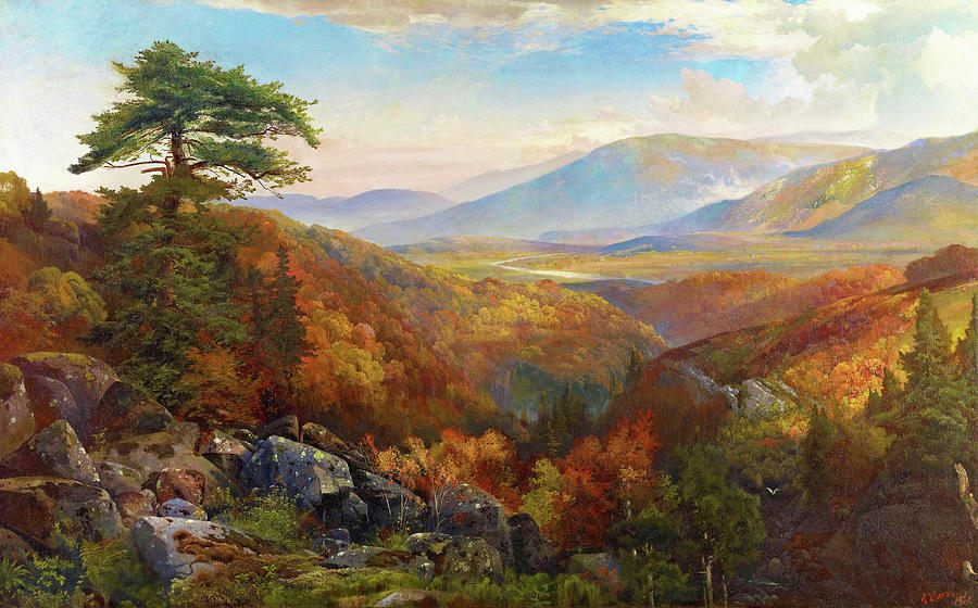 Thomas Moran Painting - Valley Of The Catawissa In Autumn - Digital Remastered Edition by Thomas Moran