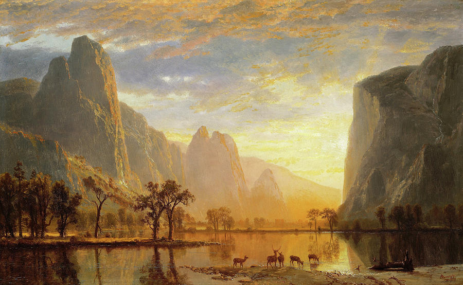 Valley Of The Yosemite Painting - Valley Of The Yosemite - Digital Remastered Edition by Albert Bierstadt