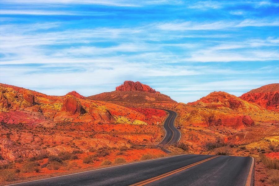 Nevada Photograph - Valley Road by Fernando Margolles