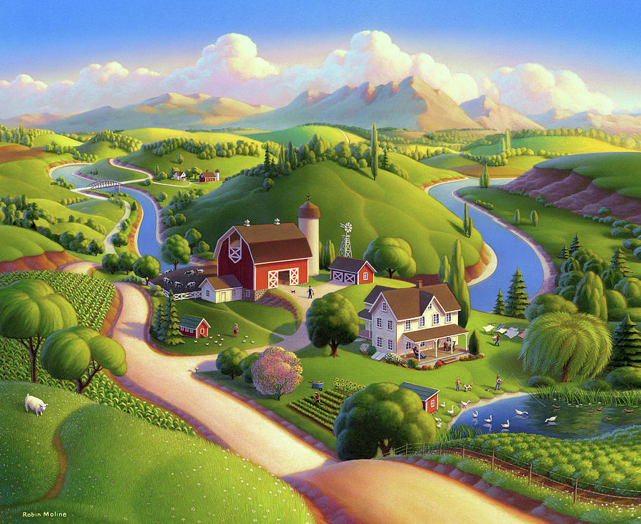 Valley Spring Farm  by Robin Moline