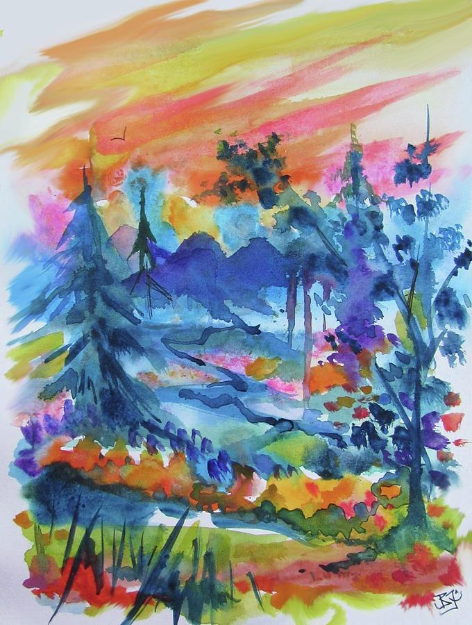 Valley Sunrise by Jean Batzell Fitzgerald