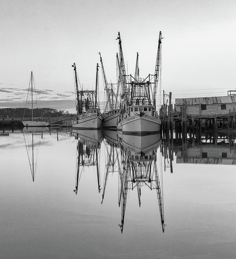 Valona Reflections in Black and white 1 by Kenny Nobles