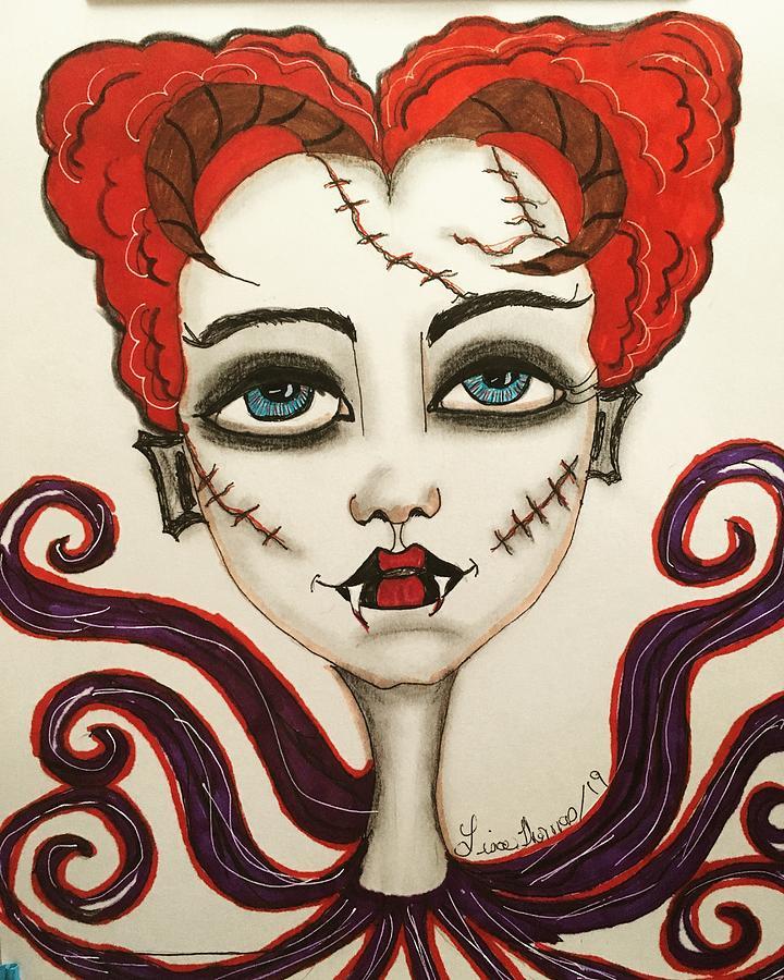 Vampire Countess Drawing by Lisa Thomas