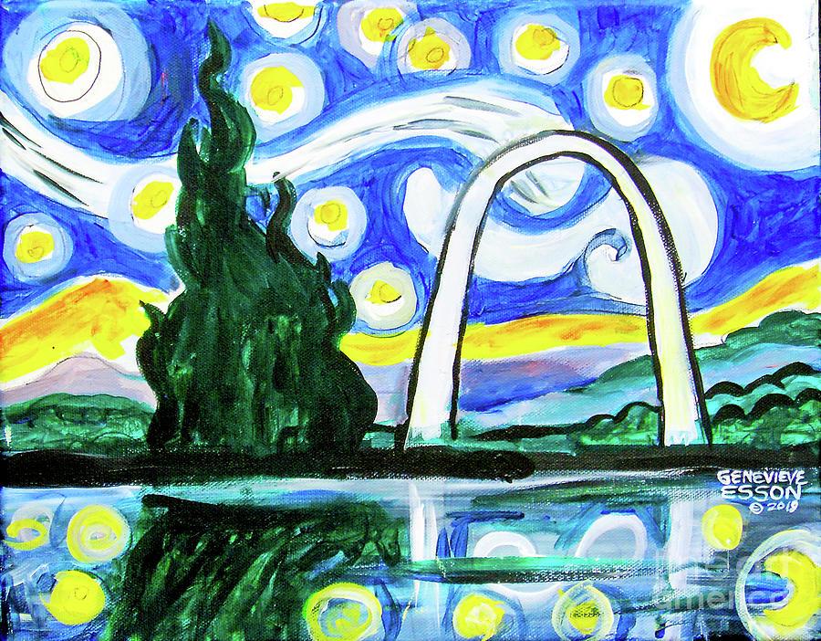 Van Goghs Gateway Starry Night by Genevieve Esson
