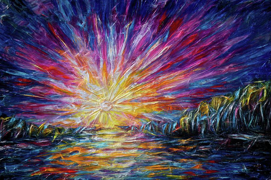Van Gogh's Style Sunlight   by OLena Art - Lena Owens