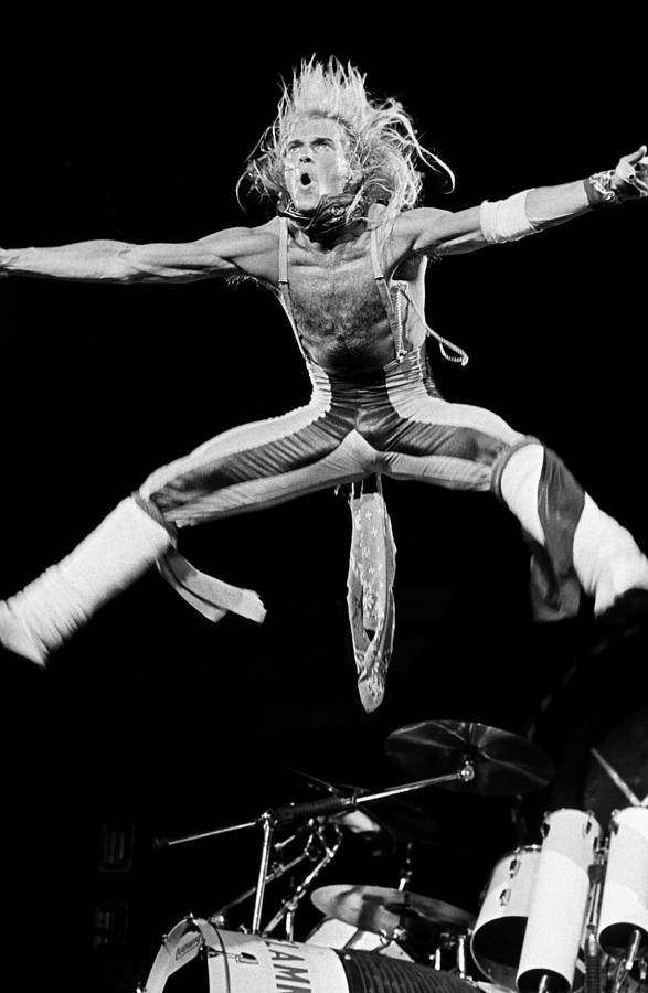 Van Halen In Concert At The Forum Photograph by George Rose