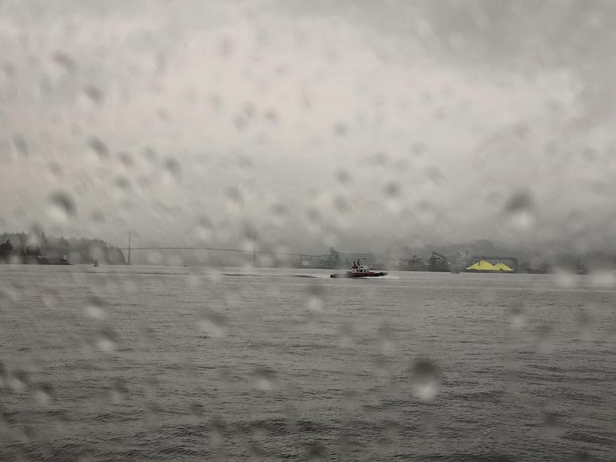 Vancouver Photograph - Vancouver behind the rain veil by Jordan Barnes