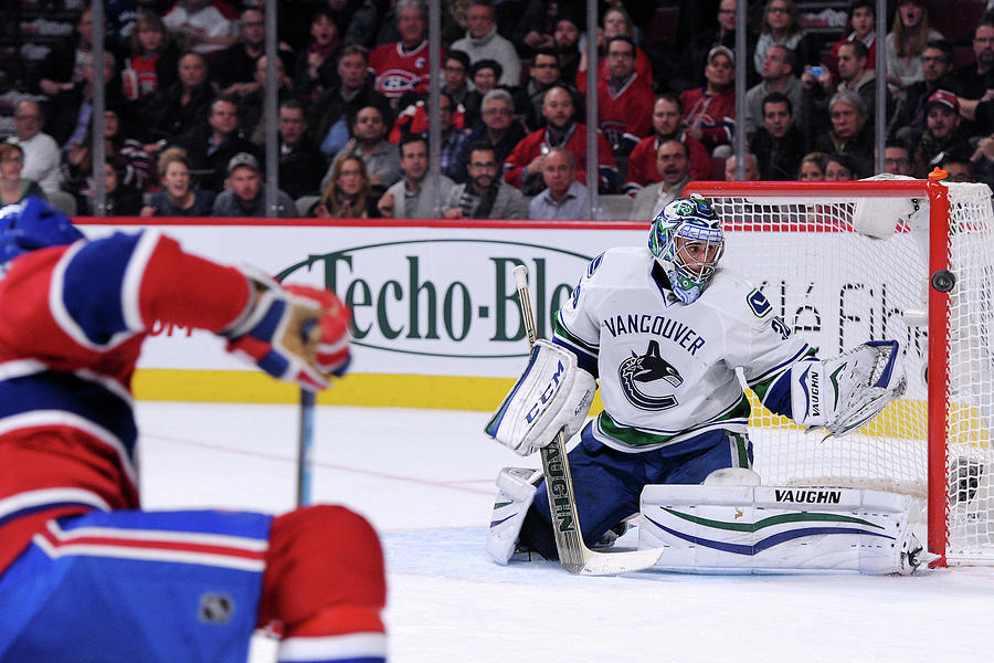 Vancouver Canucks  V Montreal Canadiens Photograph by Richard Wolowicz