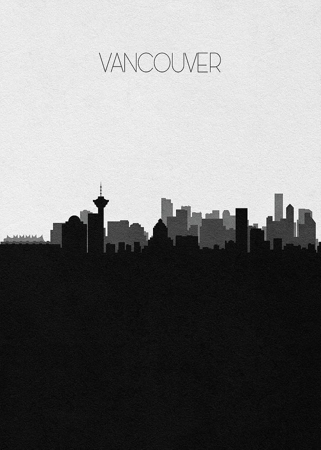 Vancouver Digital Art - Vancouver Cityscape Art by Inspirowl Design
