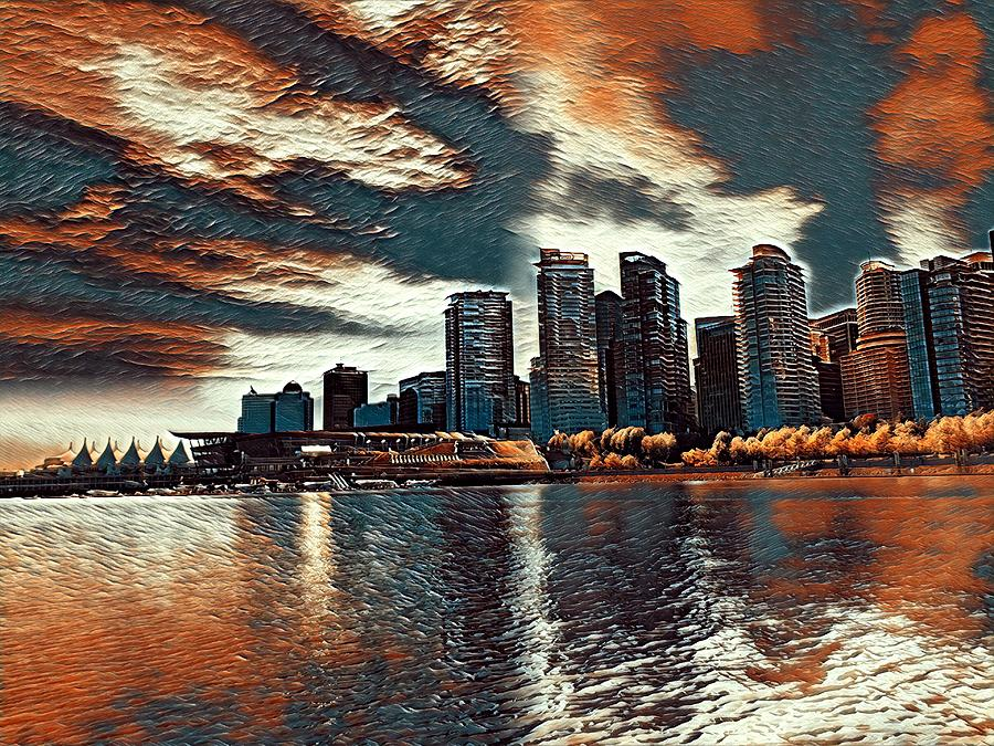 Vancouver Digital Art by Keith Cassatt