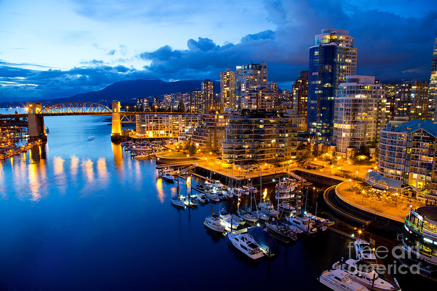 Night View Photograph - Vancouver Night View by Abesan