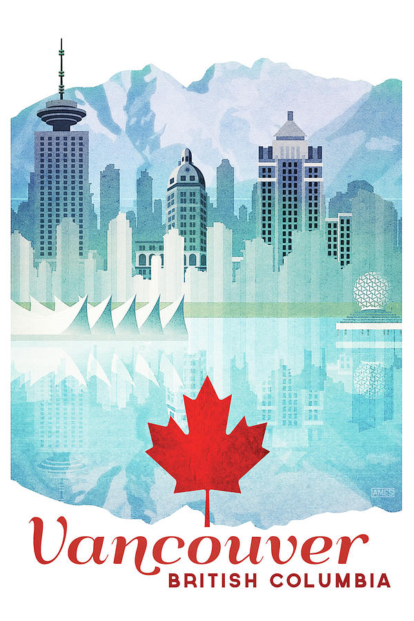 Vancouver Travel Poster Digital Art By Missy Ames