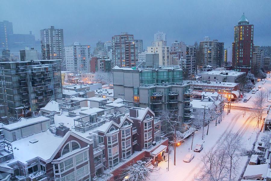 Vancouver West End Buildings Under Photograph by Julius Reque