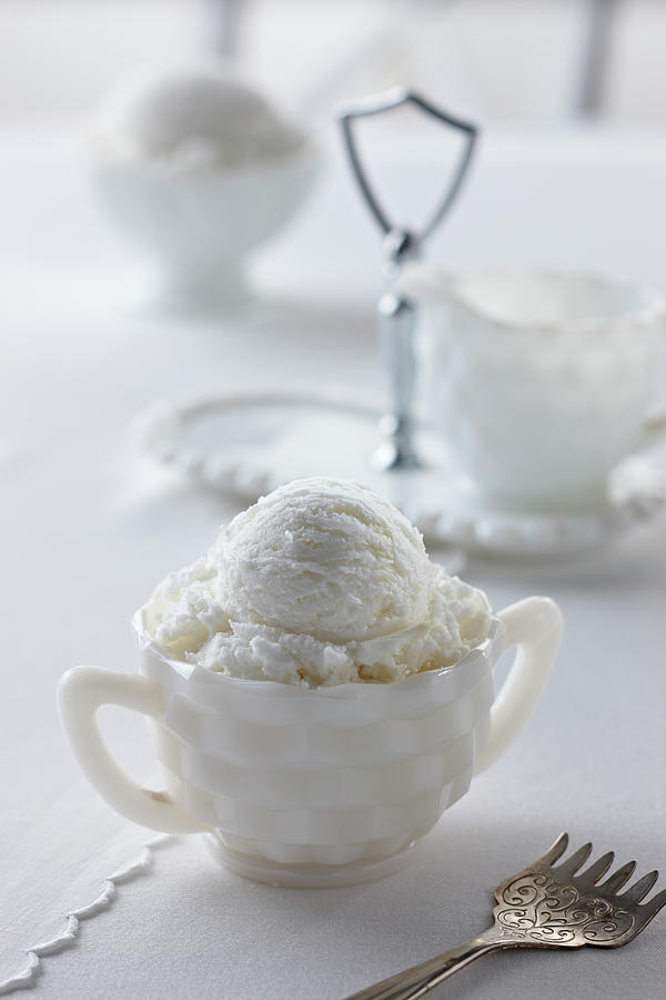Vanilla Ice Cream Photograph by Lew Robertson