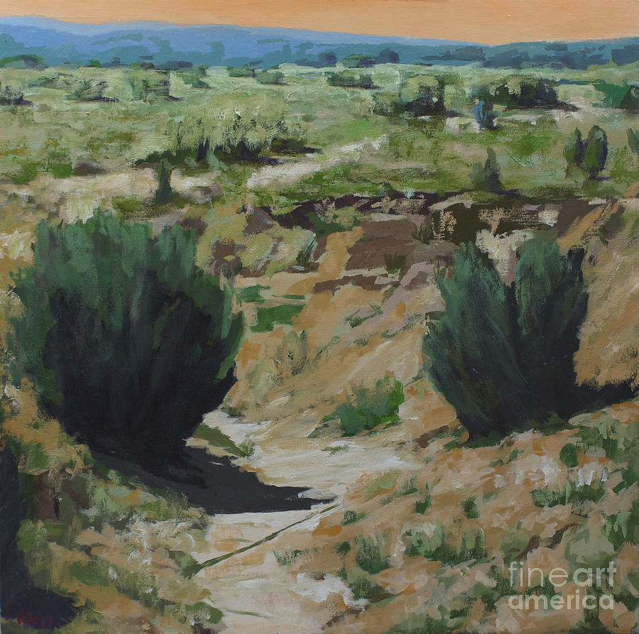 New Mexico Painting - Vanishing Shapes by Hilton McLaurin