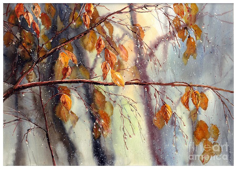 Birch Painting - Vanishing by Suzann Sines