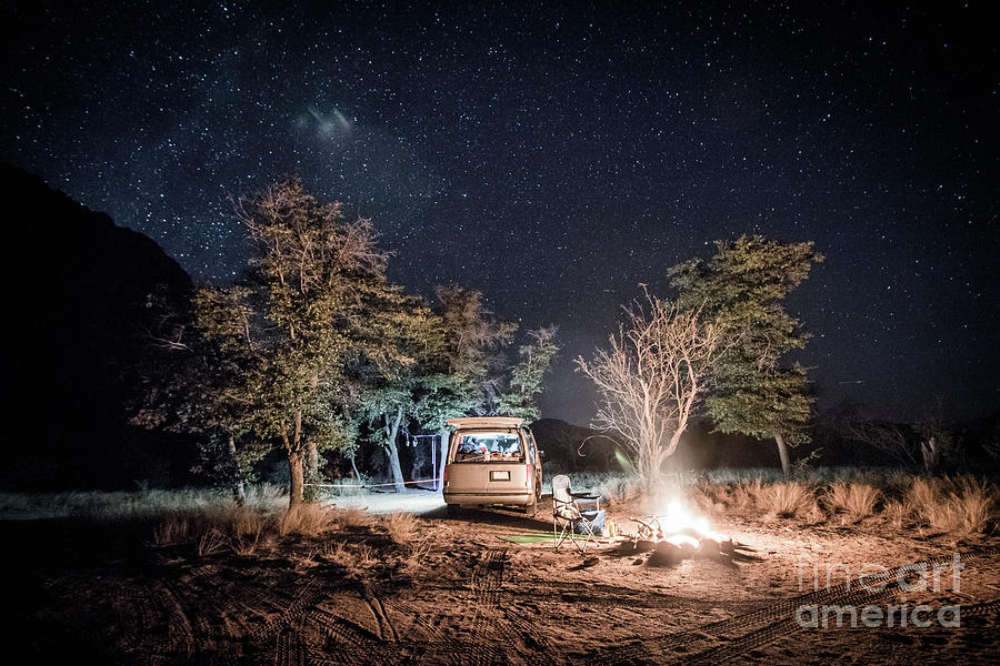 Vanlife Camping In Cochise Stronghold Photograph by Suzanne Stroeer