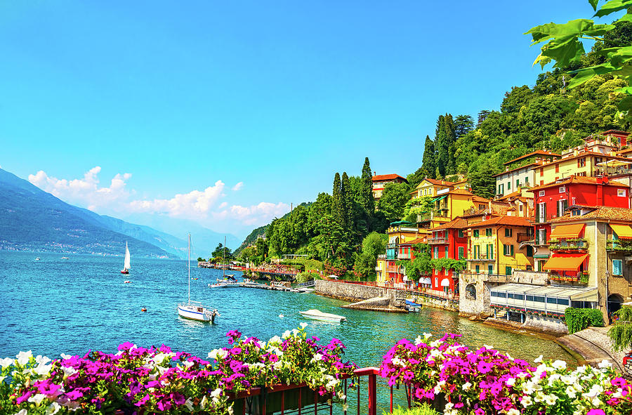 Varenna Town Como Lake District Landscape Italy Europe Photograph By Stevanzz Photography