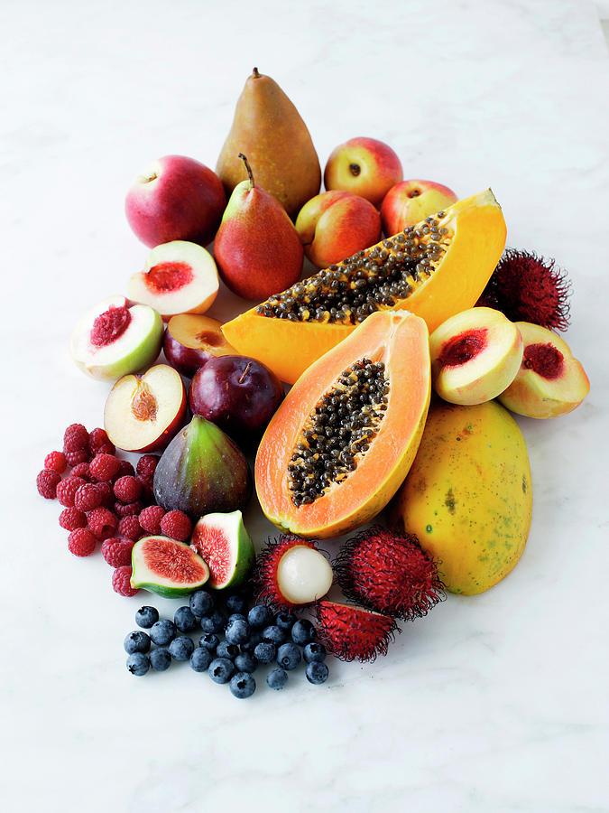 Variety Of Fresh Fruits Photograph by Brett Stevens