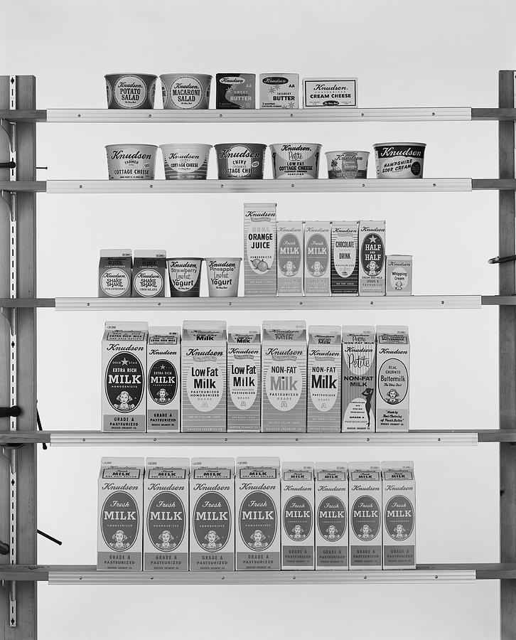 Various Carton Food On Shelf Photograph by Tom Kelley Archive