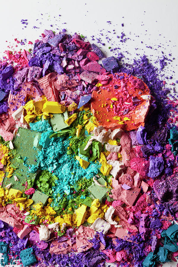Various Crushed Up Make-up Powder Photograph by Larry Washburn