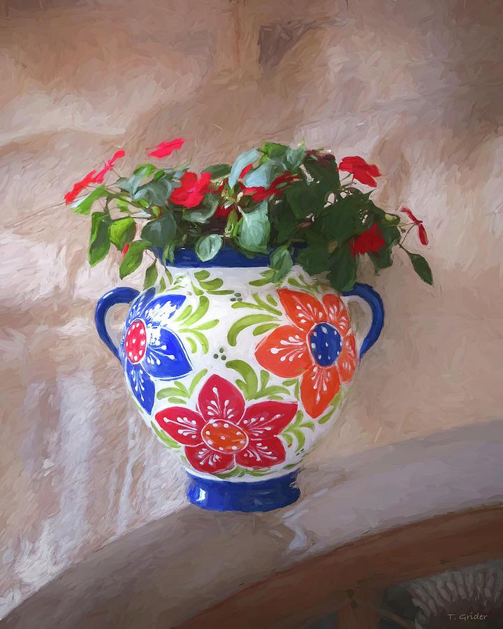 Vase of Flowers in Spain by TONY GRIDER