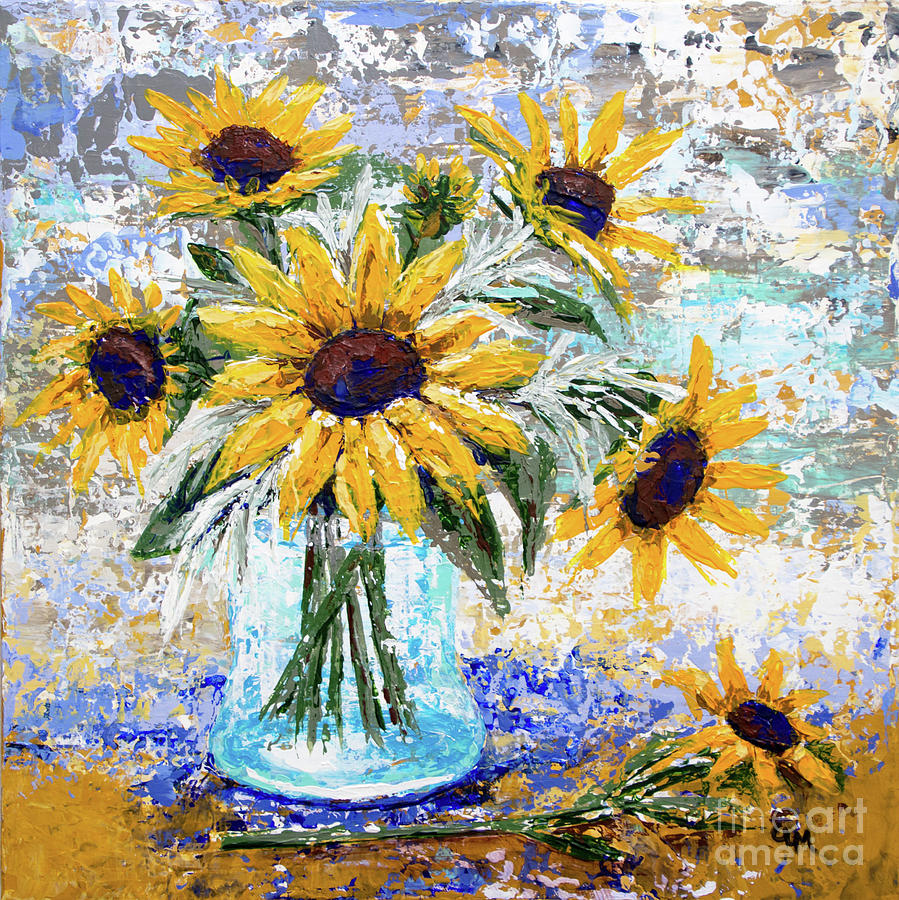 Vase of Sunflowers by Cheryl McClure