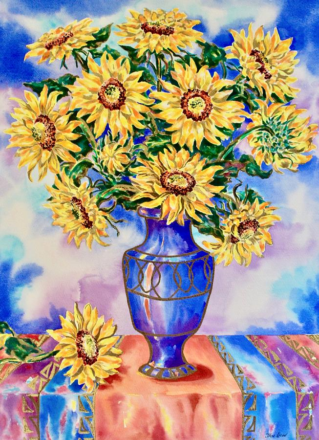 Vase of Sunflowers by Jan Law