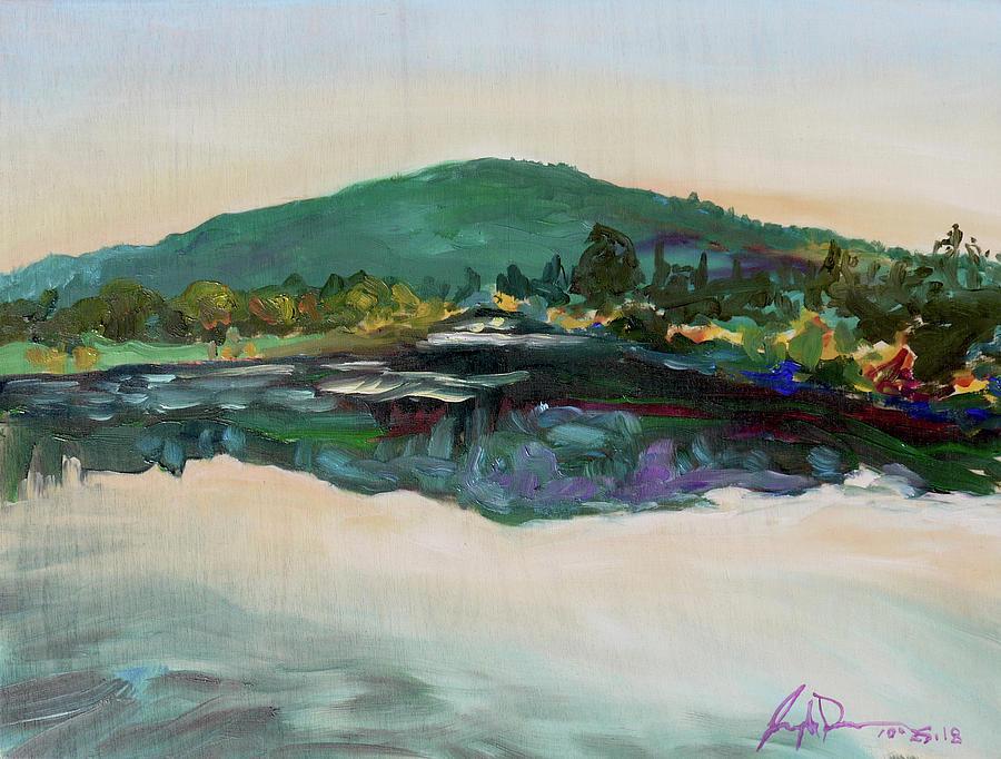 Plein Painting - Vasona Lake CA. by Joseph Demaree